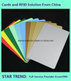Cartão verde plástico em branco de Cr80/30mil para o estoque do varejista