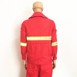 Workwear impermeable tejido tela cruzada de la policía de tráfico de Oilproof con Hola-Vis