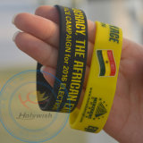 Berufssilikon-Wristband personifizierte kundenspezifische Gummiarmbänder mit Debossed