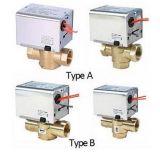 2/3 di valvola a saracinesca motorizzata ottone idraulico di ritorno della molla di modo (HTW-W27)