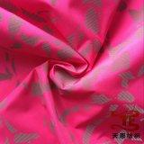Tecido 100% Polyester Pongee com impressão reflexiva para jaquetas e tecido de vestuário