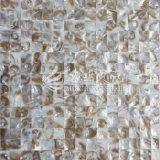 Azulejo de mosaico de agua dulce del color de Brown de la naturaleza del shell