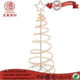 LED屋外の庭の装飾のための点滅の装飾的な3D螺線形ロープのクリスマスツリーライト