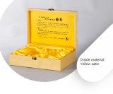 Boîte de empaquetage à thé en bois rigide simple de rectangle
