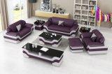 Modernes Möbel-Ausgangsleder-Sofa-Set