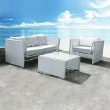 Neue Entwurf europäische Patio-Garten-Rattan-Möbel-Aluminiumstuhl-Freizeit-Sofa-Set