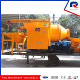 Bomba de mistura concreta montada caminhão do cilindro da alta qualidade com Batcher e chassi