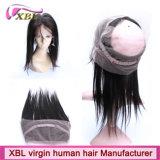 Fermeture de frontal du lacet de cheveux humains de Vierge 360 chauds brésiliens pleine