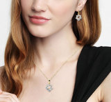 到着の方法女性のドバイの新しい宝石類は18k金をめっきされてセットする