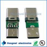 Männlicher Mikro USB zum weiblichen Typen C USB-Adapter-Verbinder