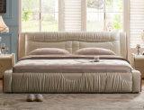 Neuer eleganter Entwurfs-modernes echtes Leder-Bett (HC902) für Schlafzimmer