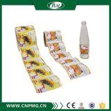 Étiquette adhésive faite sur commande estampée polychrome de collant de vinyle pour la bouteille en plastique