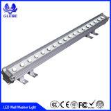 Illuminazione 12W IP65 esterno della rondella della parete di RGB LED della lega di alluminio di buona qualità