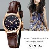 Мода дамы кварцевые аналоговые наручные часы с кожаный ремешок 71083