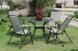 金属の屋外の庭表の砂の椅子セット