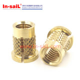 Flange Slotted Threaded Brass Insert Nuts