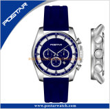 Leistungsfähige runde Armbanduhr Vorwahlknopf-Silikon-Bandtmi-Movt