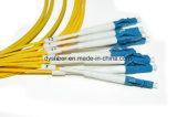 Mtp/apc-LC Vezeloptische Verbindingsdraad Sm OS2, 8core, de Kabel van het Lint, naar boven of naar onder Sleutel