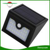 Luz psta solar do diodo emissor de luz da jarda impermeável solar infravermelha ao ar livre do pátio do jardim da lâmpada de parede do sensor de movimento da iluminação mini