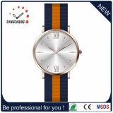 Relógio feito sob encomenda do couro dos homens do relógio de quartzo do relógio do aço inoxidável do logotipo (DC-0369)