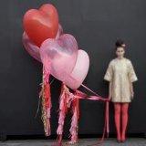 Poli nastro riccio d'arricciatura personalizzato del regalo stampato cuore