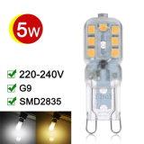 Lámpara G9 LED 5W SMD2835 360 grados de iluminación de alta transmitancia