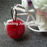 Acrílico POM POM Ball Faux Rabbit Fur Ball Fuzzy Keychain