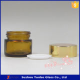 янтарный косметический стеклянный опарник 10ml для сбывания