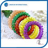 Transparente Plastic Colorful Confortable Hair Tie