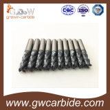 Molino de extremo del carburo de tungsteno para el aluminio y el metal
