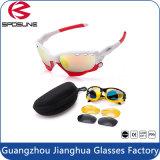 Óculos de sol impermeáveis amarelos Anti-Shock pretos cheios leves super populares da bicicleta de Revo