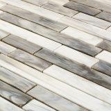 DIY comerciano gli strati all'ingrosso di marmo neri lineari delle mattonelle di mosaico
