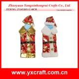 Décoration de bouteille de vin de Noël d'étalage de mémoire de vin de Noël de la décoration de Noël (ZY16Y172-3-4 26X15CM)