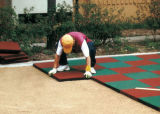 Gym de borracha Floor Tile e Mat para Outdoor Use