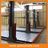 Doppelt-Fußboden-Auto-Parken-Aufzug-hydraulisches vertikales Selbstablagefach