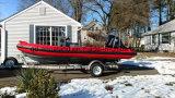 Aqualand 19feet 5.8m Fiberglas-Rippen-Boots-/Rigidinflatable Bewegungsboot/Rettung/Patrouille (rib580t)