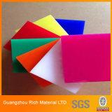 Hoja del plexiglás PMMA de la tarjeta del plexiglás del color