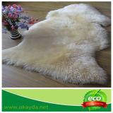 Tapete australiano da pele da pele dos carneiros com cores tingidas para a decoração Home