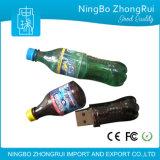 Выдвиженческой привод вспышки USB колы привода 3D вспышки USB бутылки подарка изготовленный на заказ сформированный бутылкой