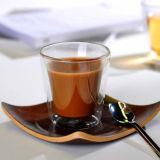 Ручной работы стекло кофеего стены двойника кофейной чашки