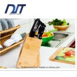 Descanso de bambu ereto da faca de cozinha