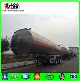 De pétrole de réservoir semi de la remorque 45000L de pétrole d'essence de camion-citerne remorque en acier brute semi