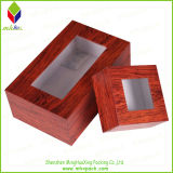 Promocional caja de empaquetado de papel pequeña con ventana