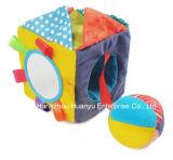 Pluche van de baby vulde het OnderwijsStuk speelgoed van het Blok