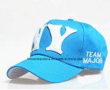 Поставка фабрики подгоняла вышитую логосом бейсбольную кепку хлопка спортов выдвиженческую