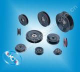 La plastica ha flangiato guida di ceramica della puleggia del rullo di ceramica per il prodotto elettronico