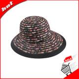 Chapéu flexível das mulheres da cubeta de Derby da fita