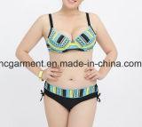 Bikini van de Grootte van de Dame van het geslacht de Grote, het Tweedelige Zwemmende Kostuum van de plus-Grootte