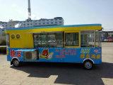 Большой автомобиль космической пищи с оборудованием кухни замораживателя, Микро--Печи, Жарить-Печи, печи пара, машины мороженого, и другого прибора