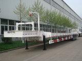 Semi-remolque de Chhgc 3axle el 17.5m Lowbed con la plataforma en cuello de cisne